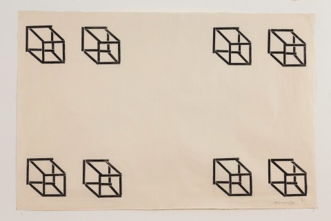 Untitled (8 cubes) van Carel Visser
