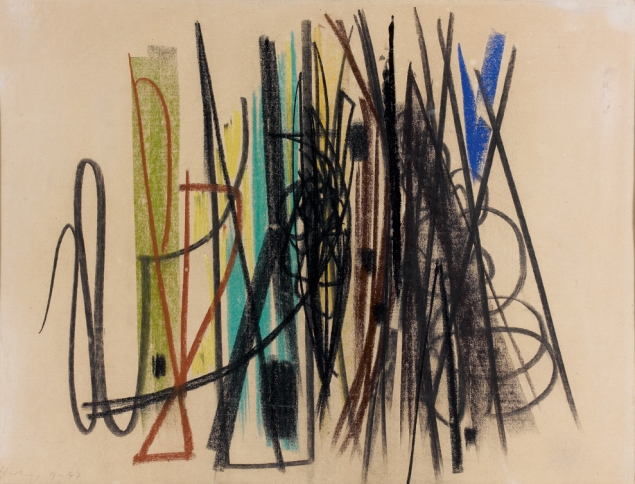 Hans_Hartung_1947_Composition_gouache_pastel_and_charcoal_on_paper_42_x_55.5_cm