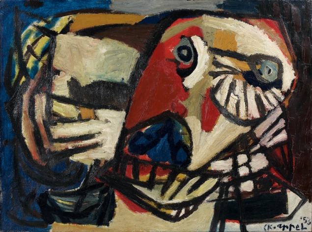 Karel_Appel_1953_La_Vache__canvas_87.5x128cm