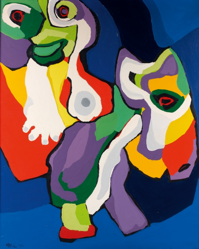 Karel_Appel_1973_Lhomme__lane_canvas_159.5x128cm