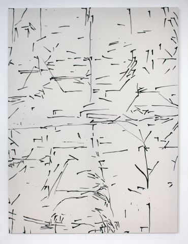 Background in grey 2012 gesso on canvas  200x150cm