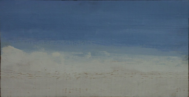 JCJ_Vanderheyden_White_clouds_and_blue_sky_1979_paneel_21_x_42_cm